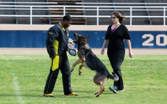 Ms. Kuehn and her German Shepard Axel compete in a National Competition