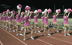Dance team sports pink to kick off Breast Cancer Awareness Month