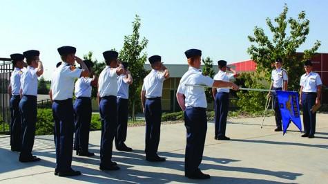 ROTC flight commanders perform inspections