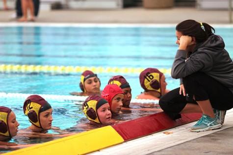Girls' varsity water polo says farewell to their seniors