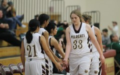 Girls' JV basketball ends their season with a win