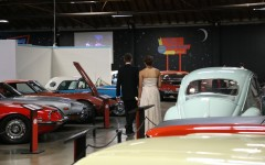 Guests attend junior prom at California Auto Museum