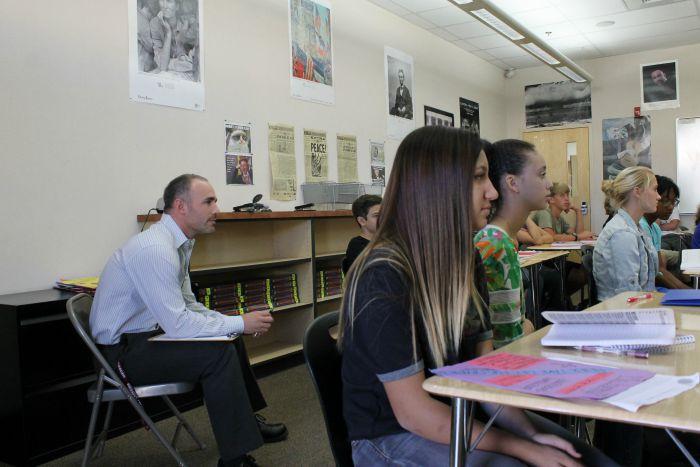 New teacher Josh Ansley adjusts to being a full time teacher