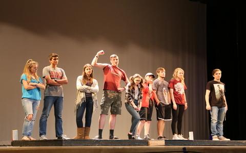 Senior One Person Shows allow Theater IV seniors to create their own act