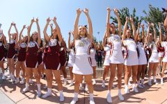 Students wear spirit attire and sing fight song on day of Quarry Bowl