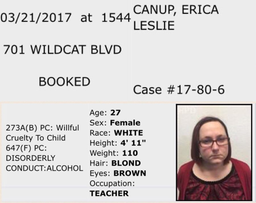Language arts teacher Erica Canup arrested for two different charges