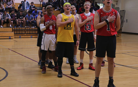 April Madness basketball tournament takes place in small gym