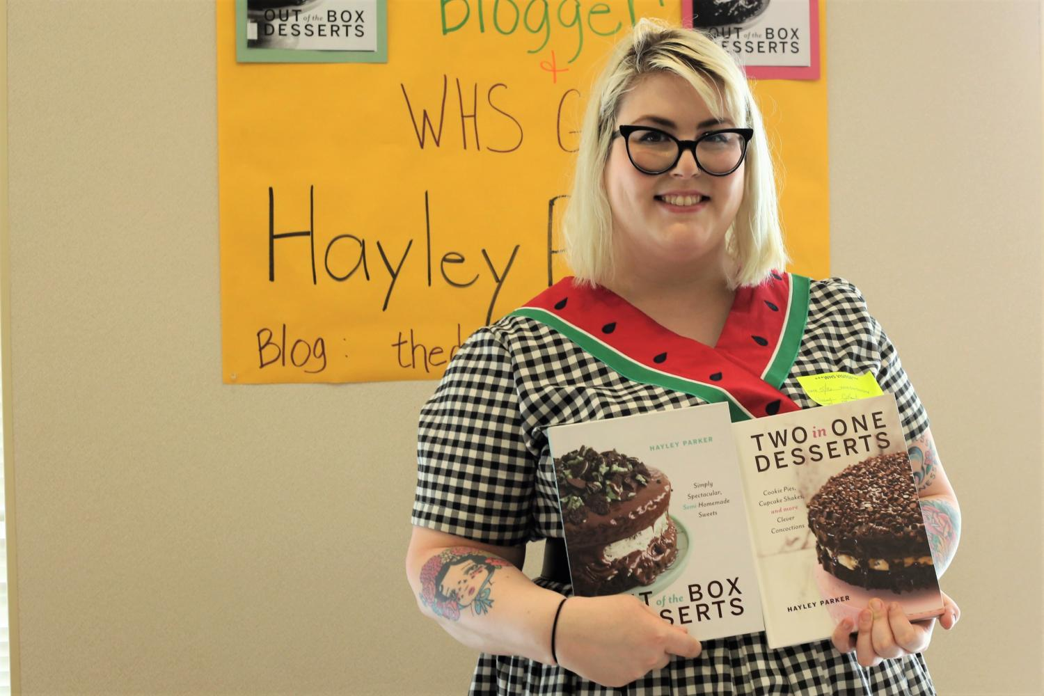 Library staff hosts alumna Hayley Parker for cookbook signing, meet-and-greet