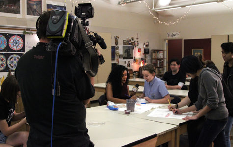 'Good Day Sacramento' interviews Art III/IV students live for Vans Custom Culture Competition segment