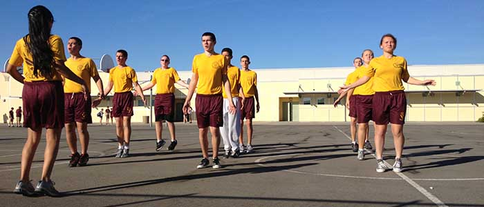 JROTC cadets are working out during class. Photo by SAVANNAH HOUDEK