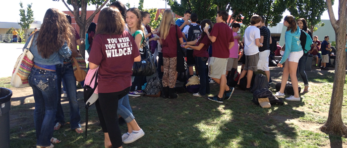 Students spend time outside during lunch. Photo by SELENA CERVANTES