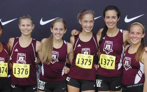 The girls Cross Country team poses for a picture after running at the California State meet. Photo taken by Sheila Hall.