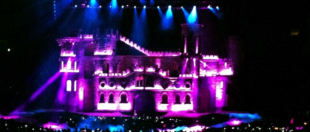 Appealing to Lady Gaga's eccentric nature, the set of Lady Gaga's Born This Way Ball in San Jose's HP Pavilion on Jan. 17 consists of a 3-D medieval castle with bright strobe lights and colored laser lights.