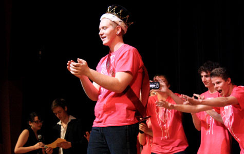 Senior Max Lofton smiles after being crowned the 2013 Mr. WHS on Jan 25. Photo by KAVYA PATHAK