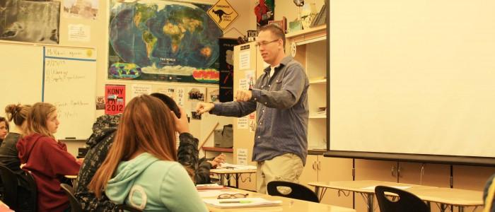 Mr. Bryant teaching AP world history. Photo by Ariella Appleby Feb. 26, 2013