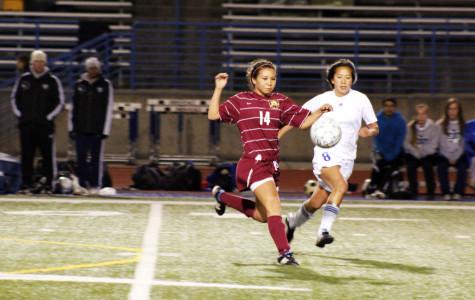 Girls' varsity soccer team beats Rocklin 1-0