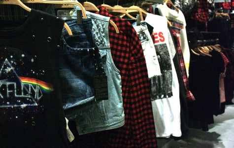 Clothing rack at Forever 21