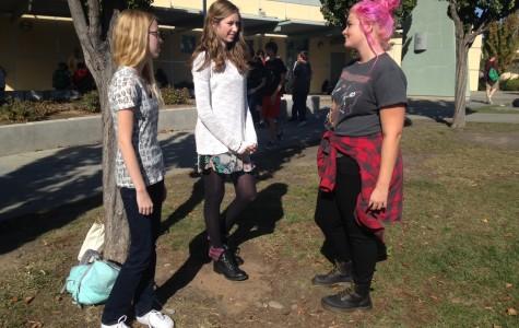 Jillian Semple,  Kaitlyn Townsley and Chloe Parker wear fall trends photo by SAVANNAH HOUDEK