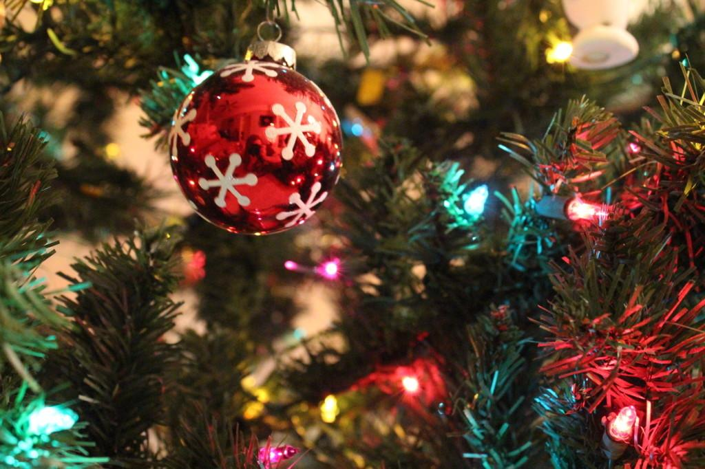 A decorated Christmas tree  on Dec. 25. Photo by HARMONY REILLY