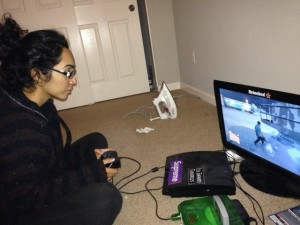 Kavleen Singh plays Grand Theft Auto V on Oct. 5. Photo by SHAD MCCARTY