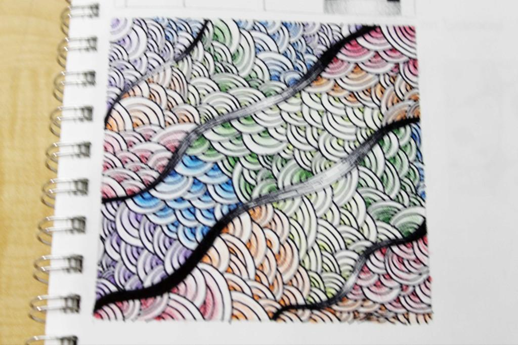 Colored pen drawing by Alyssa Mann