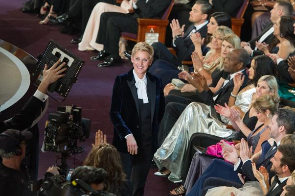 Ellen Degeneres hosts the live ABC Telecast of The Oscars® from the Dolby® Theatre in Hollywood, CA Sunday, March 2, 2014.
