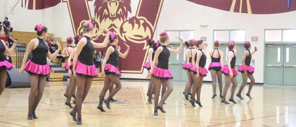 Dance team performs at freshman Showcase Night. Photo by KOLETTE KING