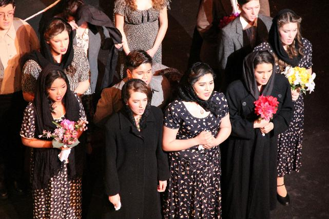 The cast of Evita. Photo by CHELSEY BURGESS