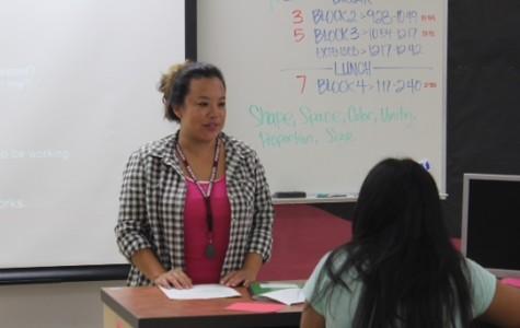Rocklin alumni Ms. Whitney Lum, now teaching graphics and art