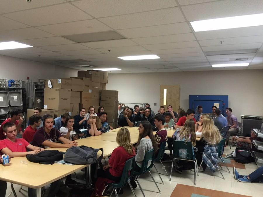 Students serve detentions on Oct. 16. Photo by Harmony Reilly