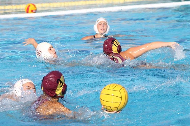 Girls' water polo match against Antelope on Oct. 3. Photo by Sarah Martinez.