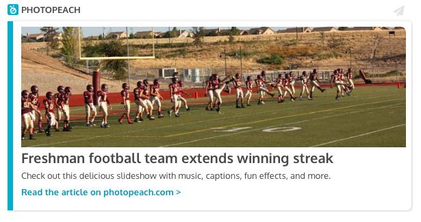 Freshman football team extends winning streak