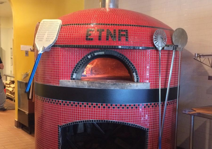 The wood stove oven that Il Pizzaiolo uses to cook pizza. Photo by Ally Barret