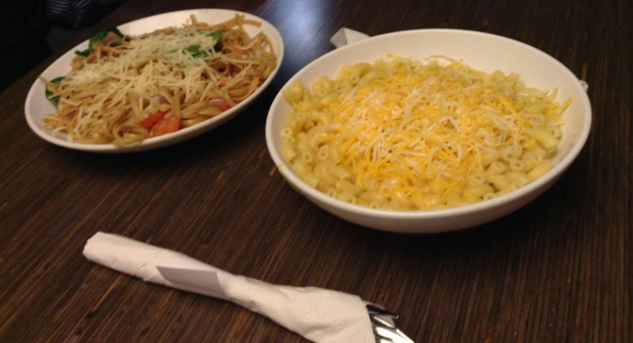 The delicious Tuscan Fresca and Wisconsin Mac &Cheese. Photo by Avreen Hehr