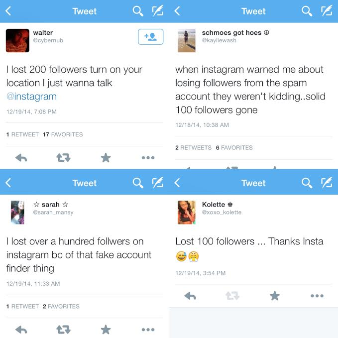 Students tweet their reactions to their followers being lost.