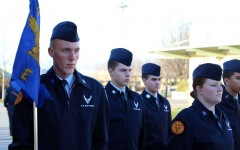 Eric Leverenz awaits inspection in his ROTC IV class on Jan. 29. Photo by Carsen Van der Linden