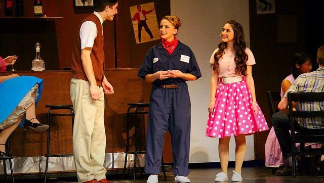 Adkins performs in her last school musical, 'All Shook Up.