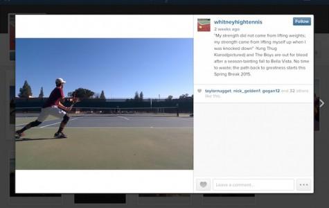 Boys' tennis team creates an official Instagram account