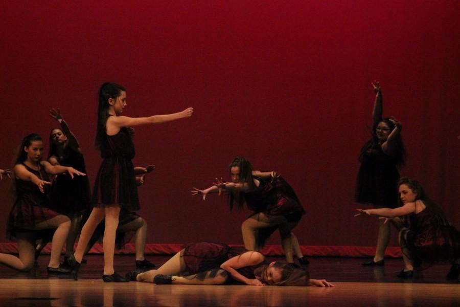 Period seven, dance I class performs  Secret.