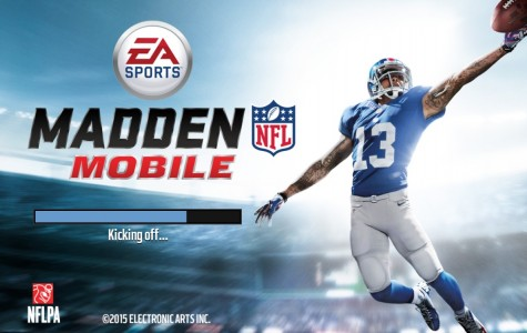 Loading screen of the new Madden app, featuring Odell Beckham Jr.'s famous one-handed catch. Screenshot by Rylea Gillis.