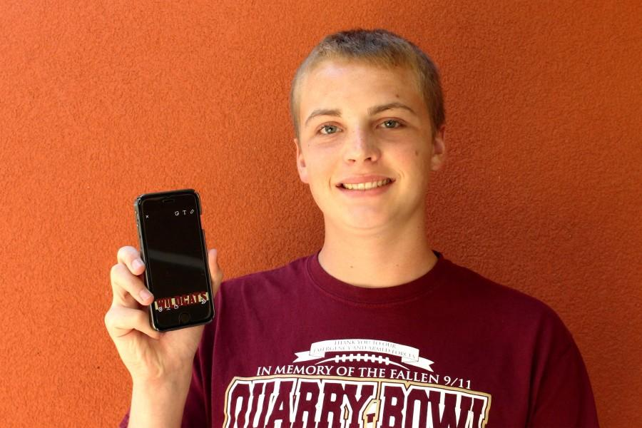 Cameron Ortmann poses with his