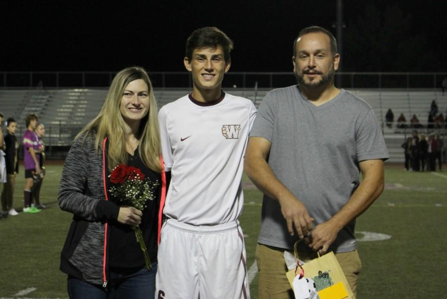 Men's soccer seniors play their last home game