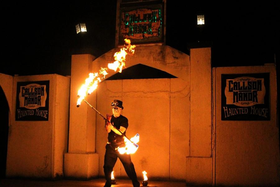 Fire dancers perform. Photo by Bella Jacobs