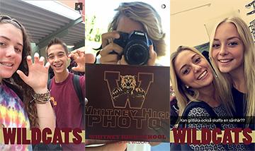 Ashley Ceragioli, Cole Kachmar, Brandon Sterri, Noemi Colussi and Saga Ysing take Snapchats with Ortmann's geofilters.