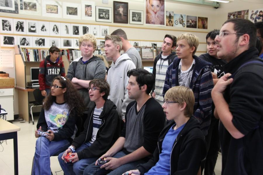 Students clash while playing Smash Bros