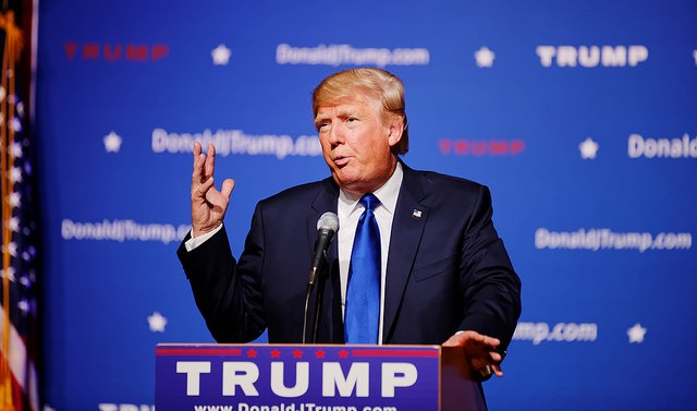 Mr Donald Trump New Hampshire Town Hall on August 19th, 2015 at Pinkerton Academy in Derry, NH. Photo by Michael Vadon CC BY-SA 2.0