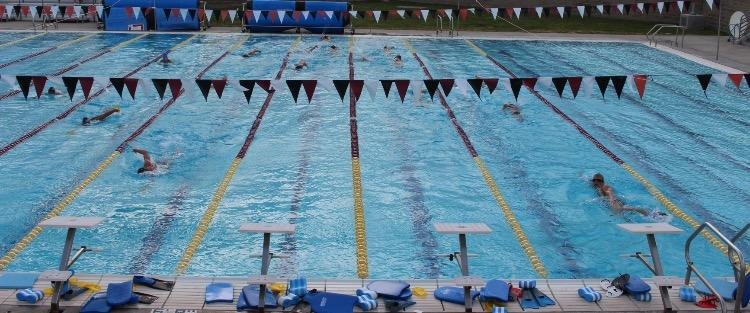 Whitney swimmers prepare at high school practice. Photo by Ava Jeung.