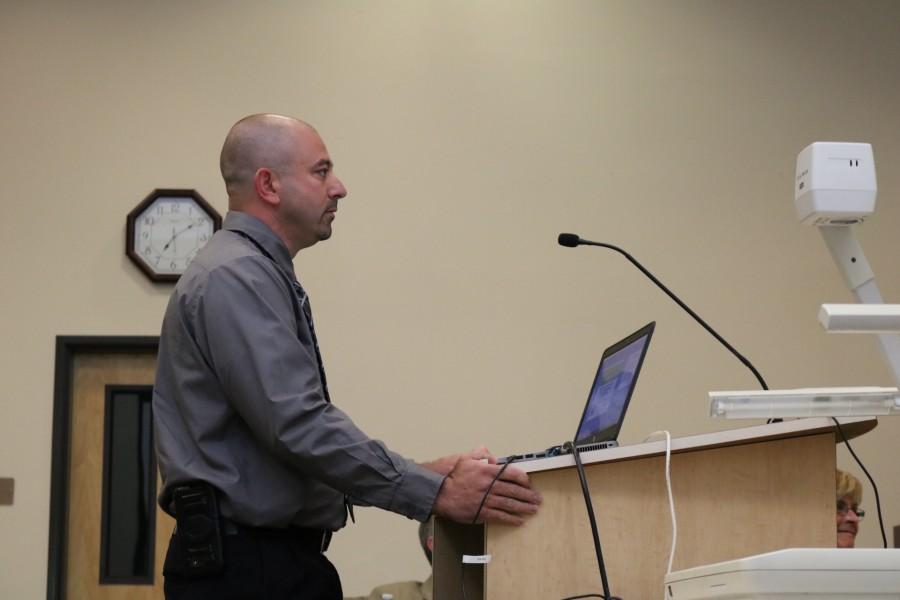 Mr. Justin Cutts addresses RUSD board members. Photo by Morgan Hawkins