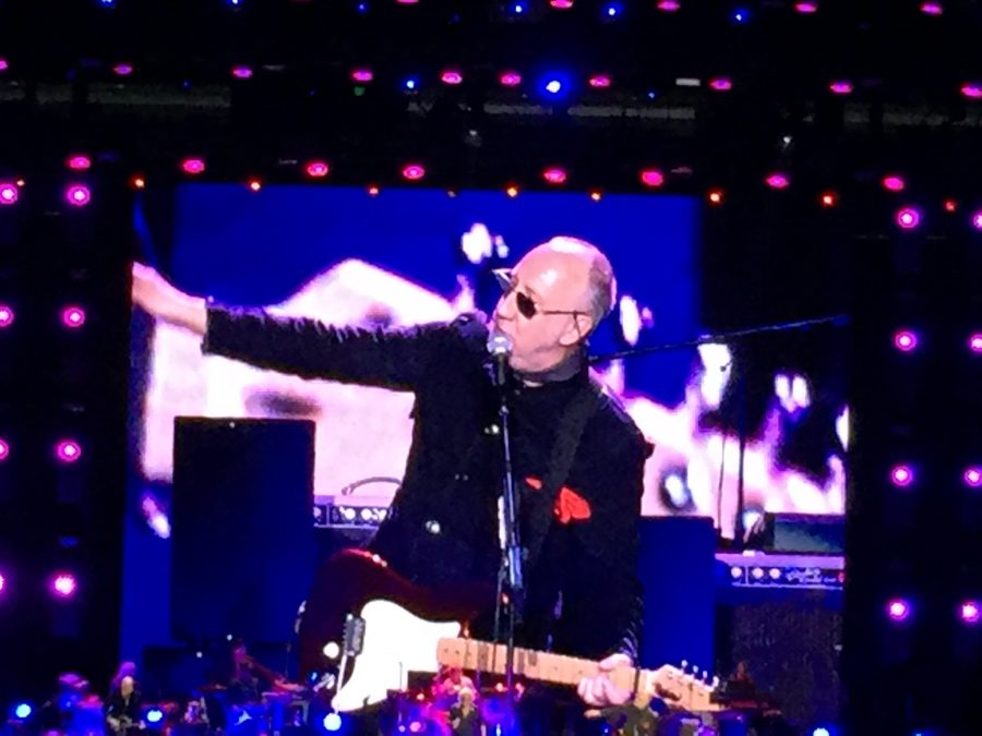 Pete Townshend performs with The Who in Oakland, CA. Photo by Lindsay Lucas