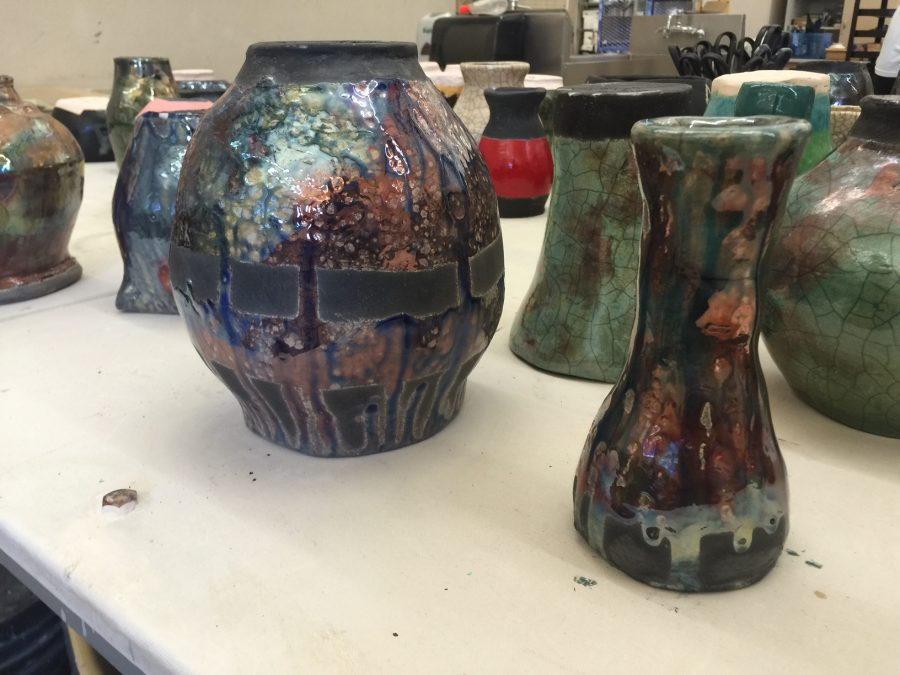 Raku fired pottery. Photo by Rachel Marquardt